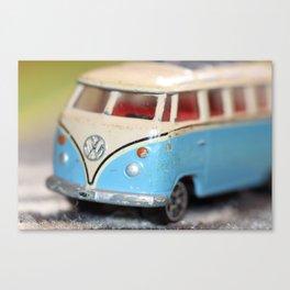 Vintage Minibus-Color Canvas Print