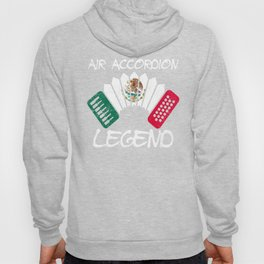 Funny Air Accordion Legend graphic Gift Mexican Flag print Hoody