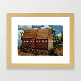 Known for it's Deep Color (Joshua Trees and Aaron Poritz Lunchbox) Framed Art Print