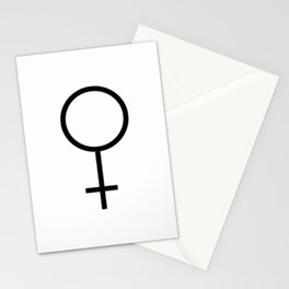 woman's symbol 1 – Black and white Stationery Cards
