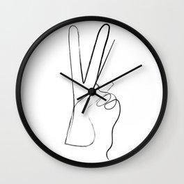Peace Art Print Wall Clock