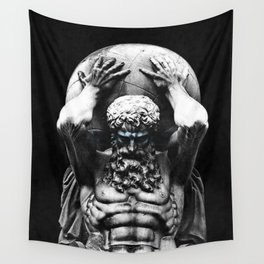 Hercules holding the whole world Wall Tapestry