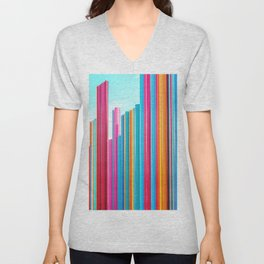 Colorful Rainbow Pipes Unisex V-Neck