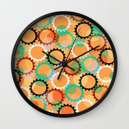 Smells like flowers and sun Wall Clock