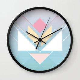Tangram Lotus One Wall Clock