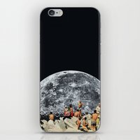 rug iPhone & iPod Skins featuring MOONRISE  by Beth Hoeckel