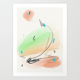 Abstract sunrise S2 Art Print