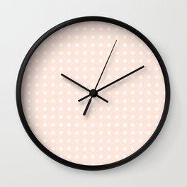 Soft Pink Polka Dots Wall Clock