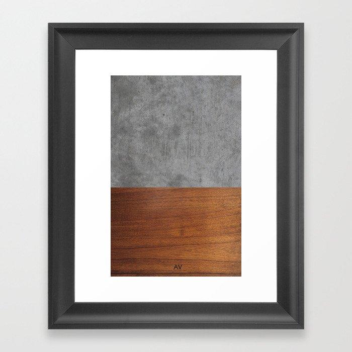 Concrete and Wood Luxury Gerahmter Kunstdruck