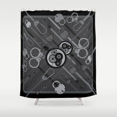 Locks & Chains Scarf Print Shower Curtain