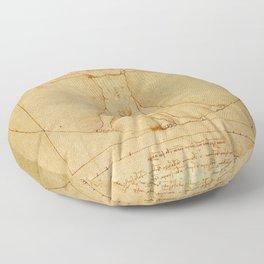 Leonardo da Vinci - Vitruvian Man Floor Pillow