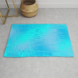Teal Blue and Cyan Design Rug