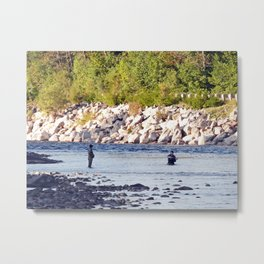 Salmon Fishing Metal Print