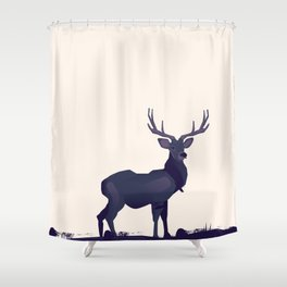 Stag ink Shower Curtain