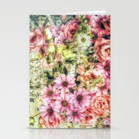 shabby chic Stationery Cards featuring Shabby Chic Floral by Joke Vermeer