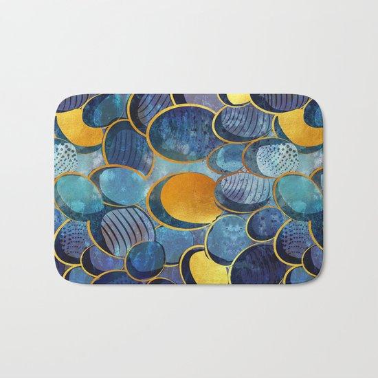Abstract deep blue Bath Mat