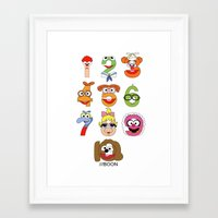 muppet Framed Art Prints featuring Muppet Babies Numbers by Mike Boon
