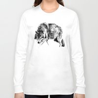 wolf Long Sleeve T-shirts featuring Wolf by Anna Shell