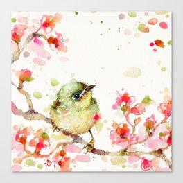 Mr Fluffy Pants (bird) Canvas Print