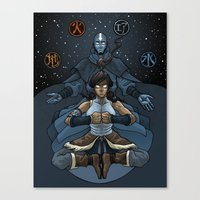 korra Canvas Prints featuring Korra by Alex Rodway Illustration