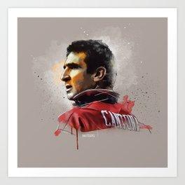 Eric Cantona - MUFC painting Art Print
