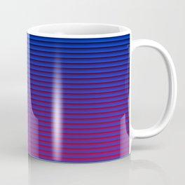 MID CENTURY MODERN BRIGHT BLUE AND FUCHSIA SUMMER STRIPES Coffee Mug