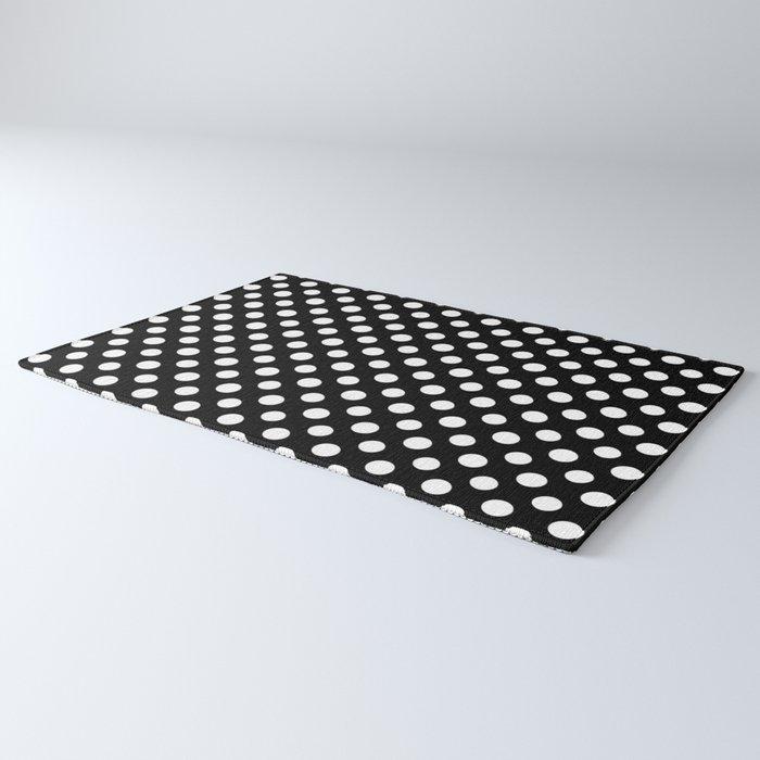 Black and White Polka Dot Pattern Rug