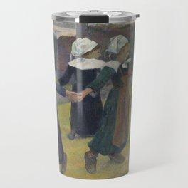 Paul Gauguin - Breton Girls Dancing, Pont-Aven Travel Mug