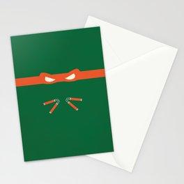 Orange Ninja Turtles Michelangelo Stationery Cards