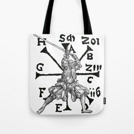VomTag. Medieval Renaissance Swordsman Tote Bag