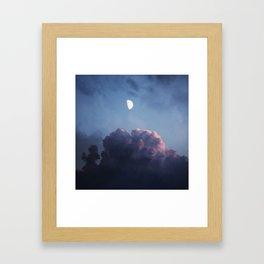 EVENING DREAM - BLUE Framed Art Print