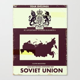 Soviet Union vintage style map cover Canvas Print