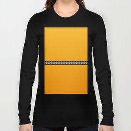 NY Taxi Cab Yellow with Black and White Check Band Long Sleeve T-shirt