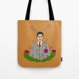 Frida Khalo Antlers and Arrows Tote Bag