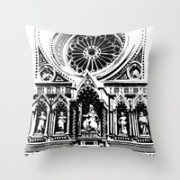 florence Throw Pillows featuring Florence by Mad Love