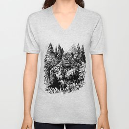 PACIFIC NORTHWEST SASQUATCH Unisex V-Neck