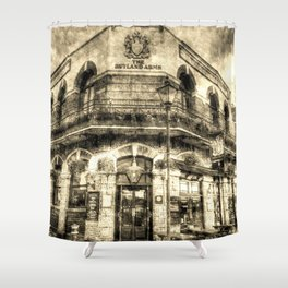 The Rutland Arms London Vintage Shower Curtain