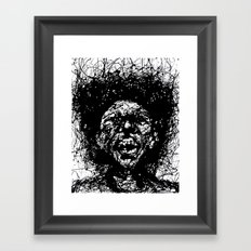 Drip Face Framed Art Print