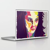 bjork Laptop & iPad Skins featuring Bjork by mr. michael temple