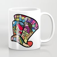 mad hatter Mugs featuring Mad hatter by Ilse S