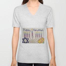 Happy Hanukkah Unisex V-Neck
