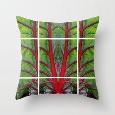 Swiss Chard - Leaf of Life Throw Pillow