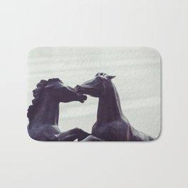 Bronze Horses - Sheridan, WY Bath Mat