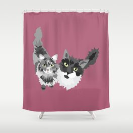 Emma and Gabe Shower Curtain