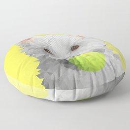 Low Poly Westie Floor Pillow