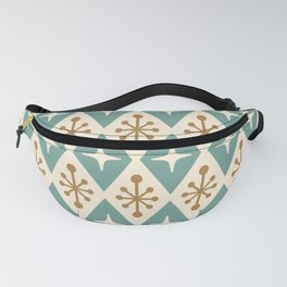 Mid Century Modern Atomic Triangle Pattern 102 Fanny Pack