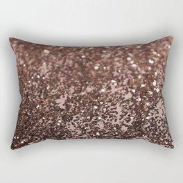 Rose Gold Glitter #1 #sparkling #decor #art #society6 Rectangular Pillow