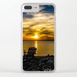 Sunset on the Chesapeake #2 Clear iPhone Case