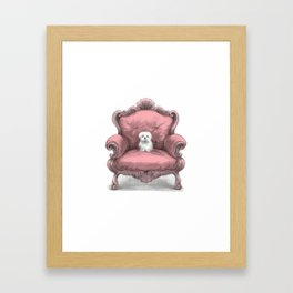 Know your place (in pink) Framed Art Print