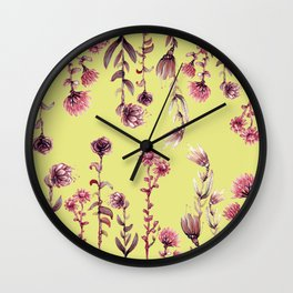 pink water color Garden Wall Clock